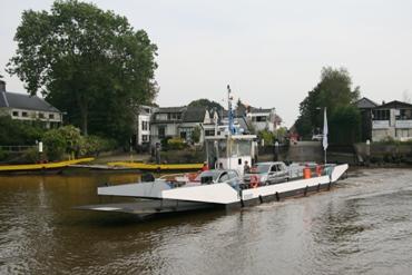 De 'Veerkracht' heeft maar kort op de Hollandsche IJssel gevaren.