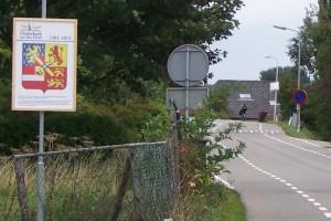 Het wapen van Willem van Oranje op de IJsseldijk West.