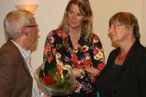 Chris den Haak uit Molenwaard praatte nog even na met de bestuursleden Gerjo Goudriaan (midden) en Elly van der Klauw (rechts) van de PvdA Krimpenerwaard.